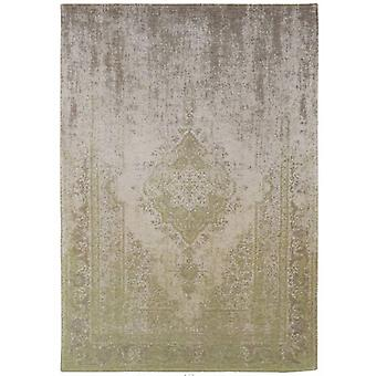 Distressed Pear Cream Medallion Flatweave Rug  60 x 90 - Louis de Poortere