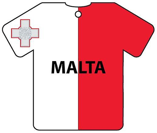 Personalised Malta Flag Jersey Car Air Freshener