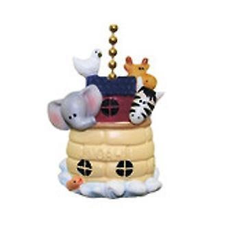 Noahs Ark dyr elefant giraf Zebra Dove Fan Pull