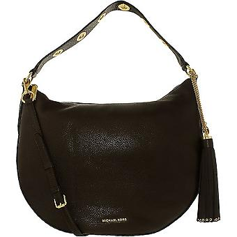 Michael Kors Brooklyn Large Convertible Leather Hobo - Coffee - 30F6ABNH3L-217