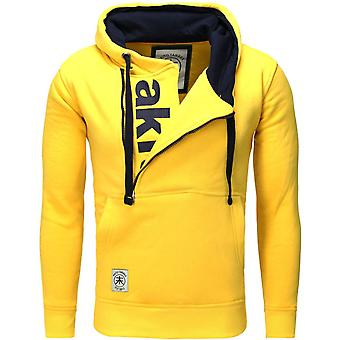 Akito Tanaka hooded sweater VERTICAL ZIP SWEAT yellow/navy