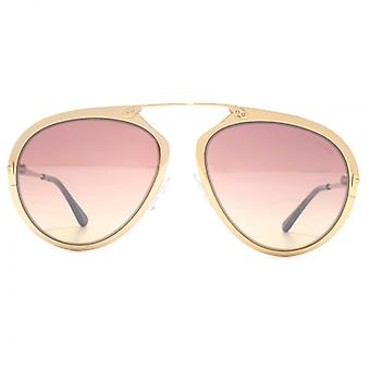 Tom Ford Dashel Sunglasses In Shiny Rose Gold Pink