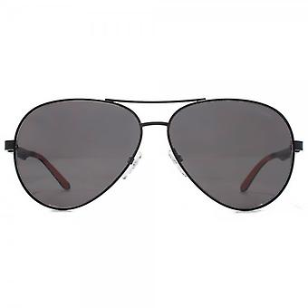Carrera 8010 Aviator Sunglasses In Matte Black Polarised