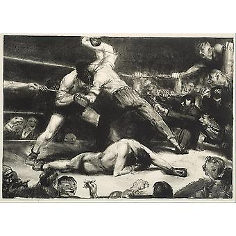 George Bellows - een Knock-Out Poster Print Giclee