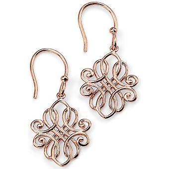 925 Silver Rose Gold Plated Earring