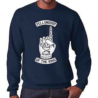 Ring Bearer Hand Lord Of The Rings Men's Sweatshirt