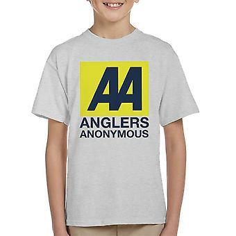 Anglers Anonymous AA Logo Fishing Kid's T-Shirt