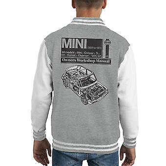 Haynes Workshop Manual Mini 1959 Black Kid's Varsity Jacket