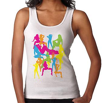 Sexy Naked Girls Silhouette Pop Art Women's Vest