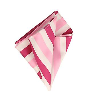 Frédéric Thomass handkerchief handkerchief Cavalier cloth pink white striped Pochette Microfiber