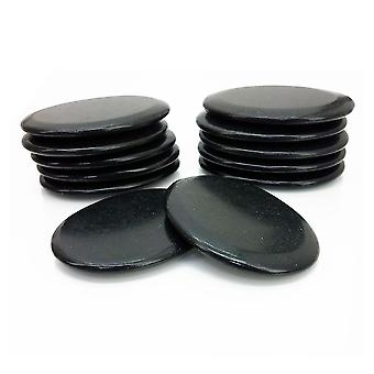 Royal Massage 12pc Medium Flat Basalt Hot Stone Set F