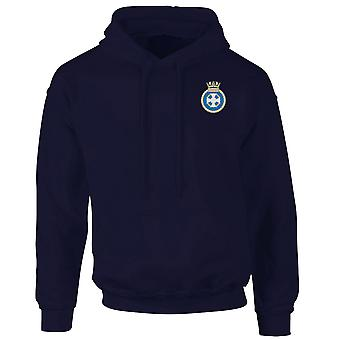 HMS Lindisfarne Embroidered Logo - Official Royal Navy Hoodie
