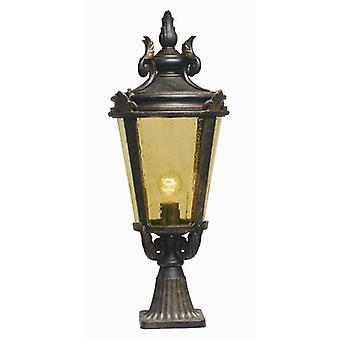 Elstead BT3/L Baltimore Large exterior pedestal lantern, IP43