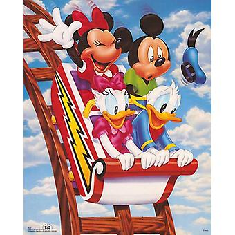 Mickey & Friends Rollercoaster Poster Print by Walt Disney (16 x 20)