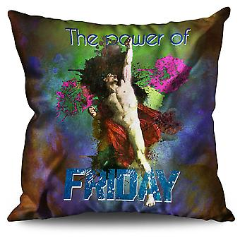 Friday Classic Art Funny Linen Cushion Friday Classic Art Funny | Wellcoda