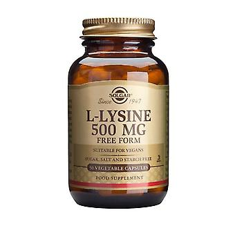 Solgar, L-Lysine 500 mg Vegetable Capsules , 50
