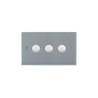 Hamilton Litestat Cheriton Victorian cetim cromo 3G 100W LED Dimmer SC