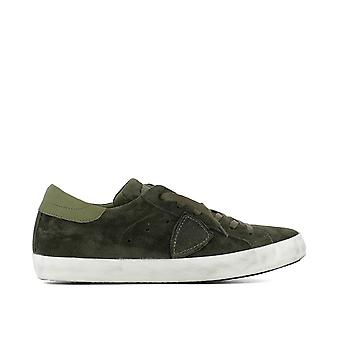Philippe model men's CLLUXH04 green suede of sneakers