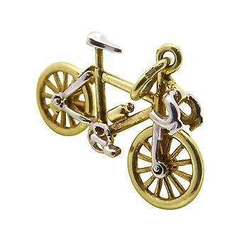 Geel gouden fiets hanger