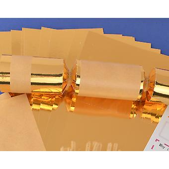 8 Gold & Kraft Paper Make & Fill Your Own Party Crackers - Craft Kit