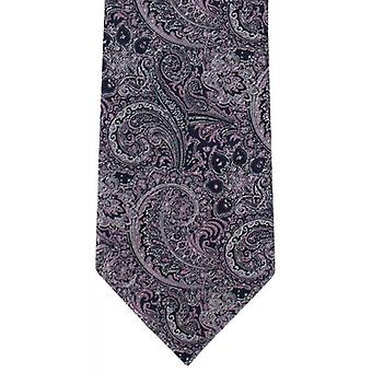 Michelsons of London Elaborate Paisley Polyester Tie - Pink