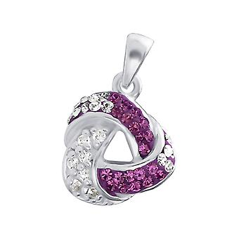 Triangle - 925 Sterling Silver Jewelled Pendants