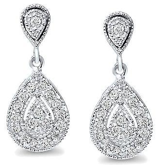 1 / 2ct Pear Shape Dangle Diamond Earrings 10K witgoud