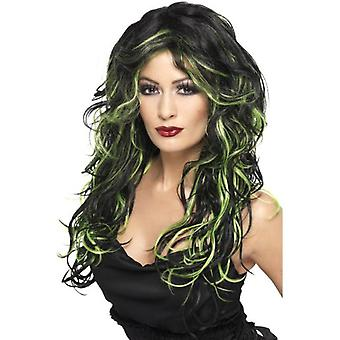 Smiffys Gothic Bride Wig Green & Black Long & Streaked (Babies and Children , Costumes)