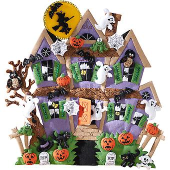 Haunted House Wall Hanging Felt Applique Kit-18