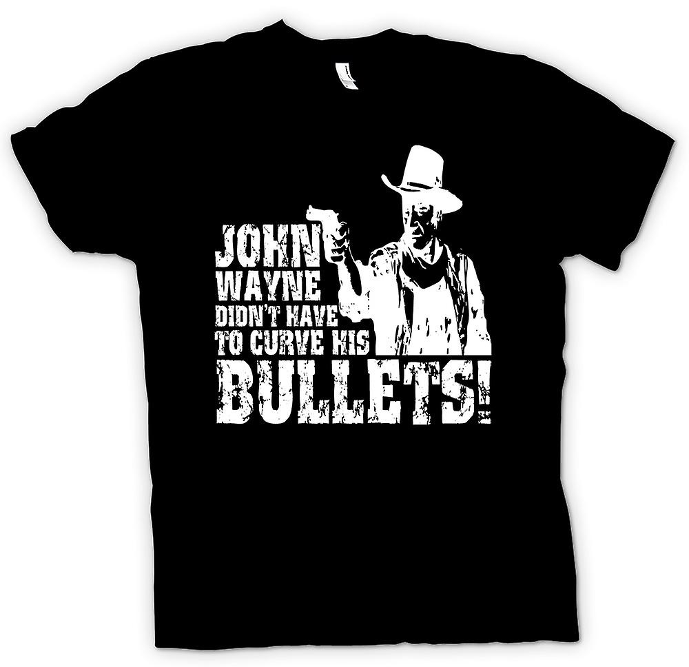 Womens T-shirt - John Wayne Curved - Cowboy