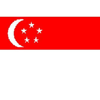 Singapore Flag 5ft x 3ft With Eyelets For Hanging
