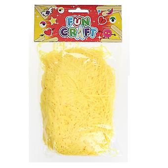 Children's Art & Craft Yellow Shredded Paper 25g