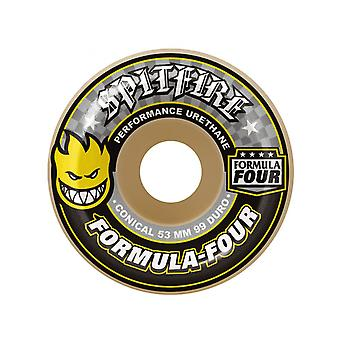 Spitfire Natural Formula Four - Conical Yellow 99DU  - 53mm Skateboard Wheels
