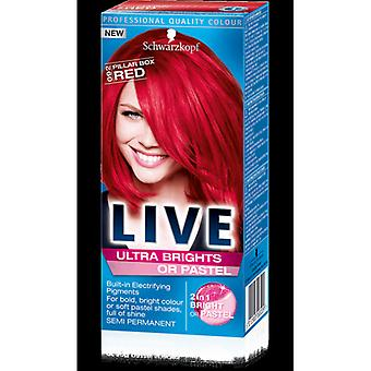 Schwarzkopf Live Ultra brights of Pastel-pijler Box rood 92