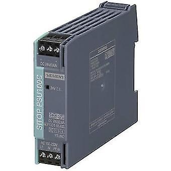 シーメンス SITOP PSU100C 24 V/0,6 A レール マウント 14 W の電源ユニット (DIN) 24 Vdc 0.6 × 1