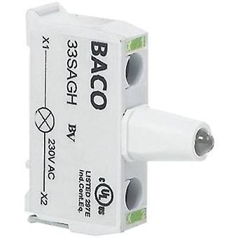 LED verde 130 V BACO BA33SAGM 1 PC