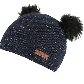 Regatta Girls Hedy Lux Hat Pom Pom Warm Walking Knitted Beanie Hat