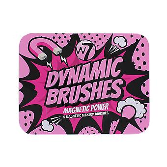 W7 Dynamic Brushes 5 Magnetic Makeup Brushes Power Kit