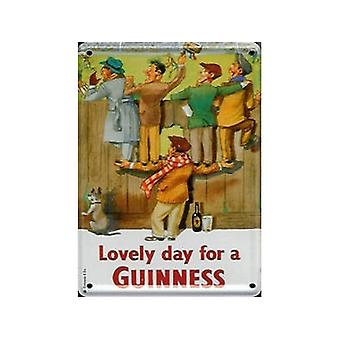 Guinness Footie Fans Metal Postcard / Mini-Sign