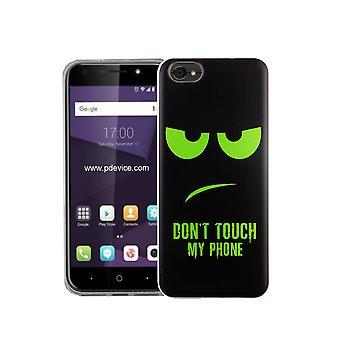 Mobiele telefoon geval van ZTE mes Lite A6 Raak mijn telefoon groene Smartphone cover bumper shell gevallen niet