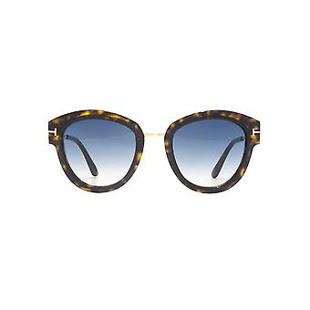 Tom Ford Mia 02 Sonnenbrillen In dunklen Havanna Green
