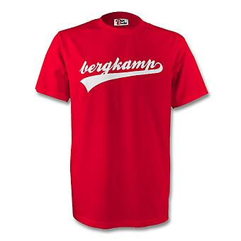 Dennis Bergkamp Arsenal Signatur Tee (rot)