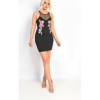 IKRUSH Womens Kira Fishnet Bodycon Dress