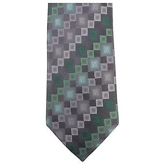 Knightsbridge halsdukar Square mönster Tie - gröngrå