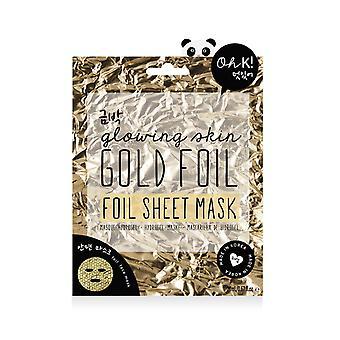Oh K! Maschera foglio di lamina d'oro