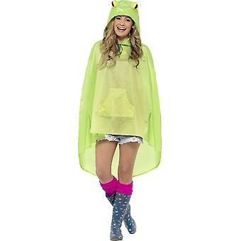Frog Party Poncho, One Size