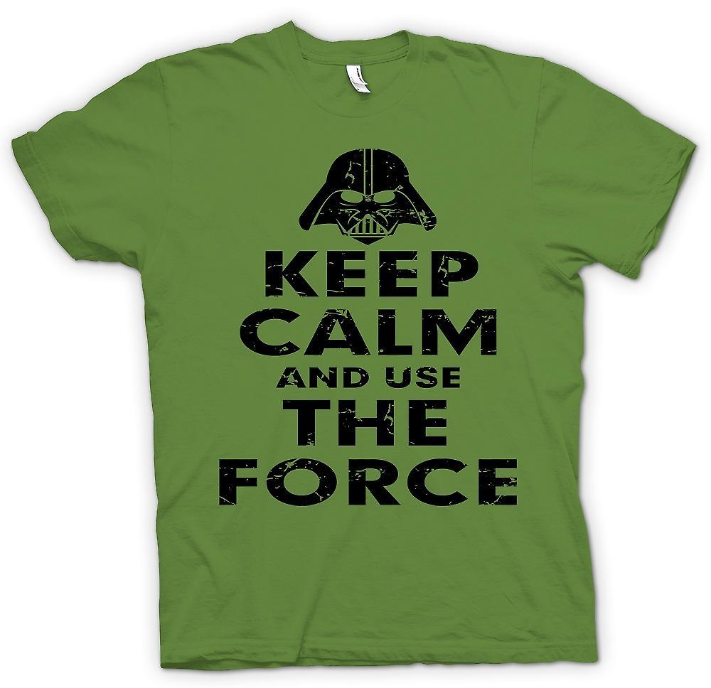 Mens T-shirt - Gardez votre calme et utiliser la Force - inspiré de Star Wars