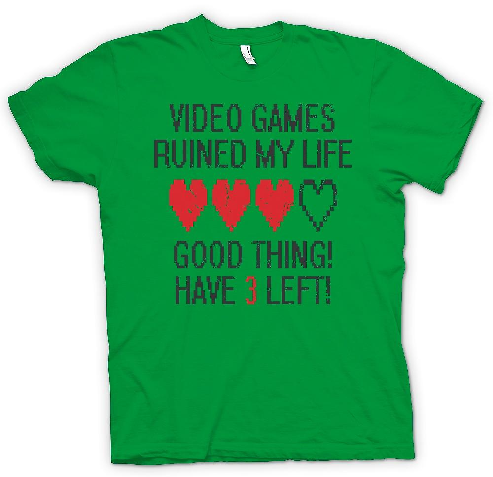 Camiseta para hombre - Video Juegos de arruinaron mi vida - quedan 3