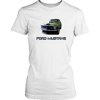 Ford Mustang Face On - Classic American Muscle Ladies T Shirt