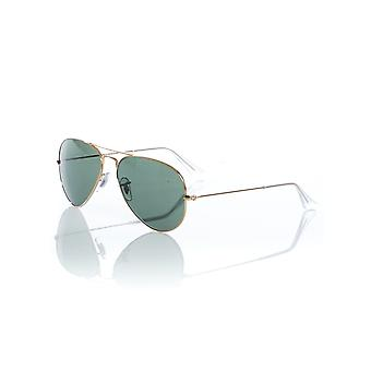 Ray-Ban Gold-Grey Green Aviator Large Metal - 55mm Sunglasses